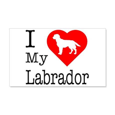 I Love My Labrador Retriever 22x14 Wall Peel