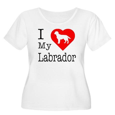 I Love My Labrador Retriever Women's Plus Size Sco