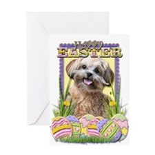 Easter Egg Cookies - ShihPoo Greeting Card