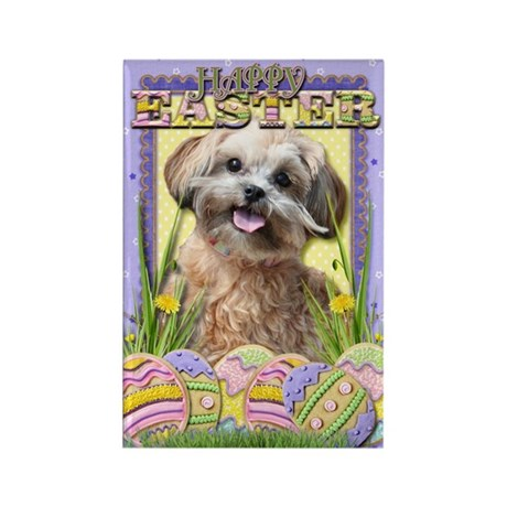 Easter Egg Cookies - ShihPoo Rectangle Magnet (10