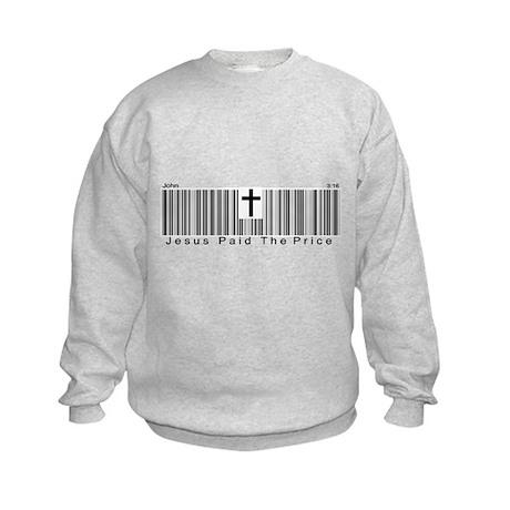 JESUS BARCODE Kids Sweatshirt