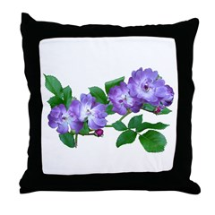 Blue Climbing Roses Throw Pillow