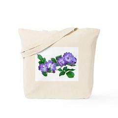 Blue Climbing Roses Tote Bag