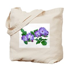 Blue Climbing Roses Tote Bag