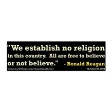"""Reagan Establish No Religion 42x14 Wall Peel"