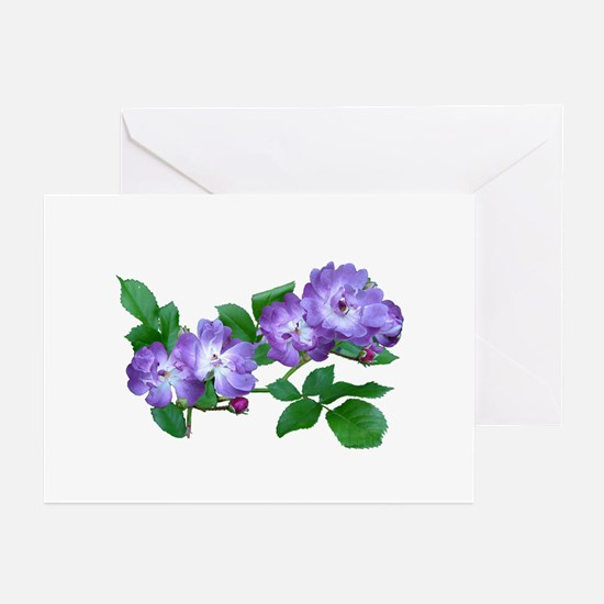 Blue Climbing Roses Greeting Cards (Pk of 10)