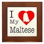 I Love My Maltese Framed Tile