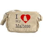 I Love My Maltese Messenger Bag