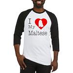 I Love My Maltese Baseball Jersey