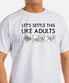 Rock Paper Scissors: Like Adults T-Shirt