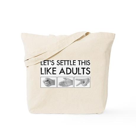 Rock Paper Scissors: Like Adults Tote Bag
