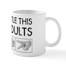 Rock Paper Scissors: Like Adults Mug