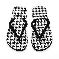 Houndstooth Flip Flops