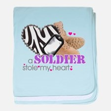 Cute Army love baby blanket