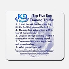 Top 5 Dog Training Truths Mousepad