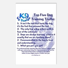 Top 5 Dog Training Truths Postcards (Package of 8)