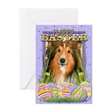 Easter Egg Cookies - Sheltie Greeting Card