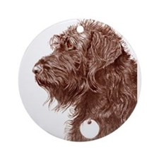 Chocolate Labradoodle 4 Ornament (Round)