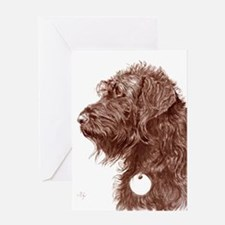 Chocolate Labradoodle 4 Greeting Card
