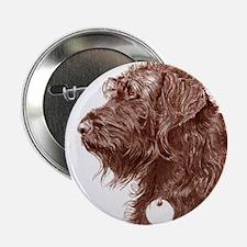 "Chocolate Labradoodle 4 2.25"" Button"