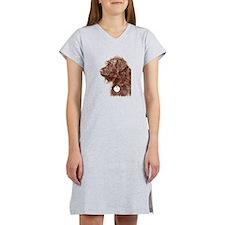 Chocolate Labradoodle 4 Women's Nightshirt