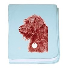 Chocolate Labradoodle 4 baby blanket