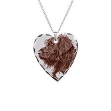 Chocolate Labradoodle 4 Necklace