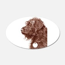Chocolate Labradoodle 4 Wall Decal