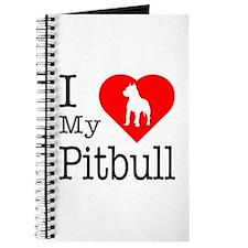 I Love My Pitbull Terrier Journal