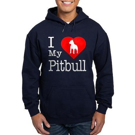 I Love My Pitbull Terrier Hoodie (dark)