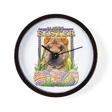 Easter Egg Cookies - Shar Pei Wall Clock