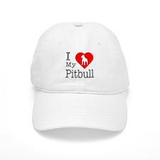 I Love My Pitbull Terrier Baseball Cap