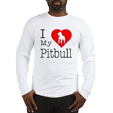 I Love My Pitbull Terrier Long Sleeve T-Shirt