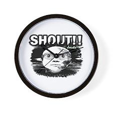 shout Wall Clock