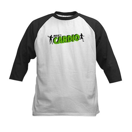Zombie Rule #1 CARDIO! Kids Baseball Jersey