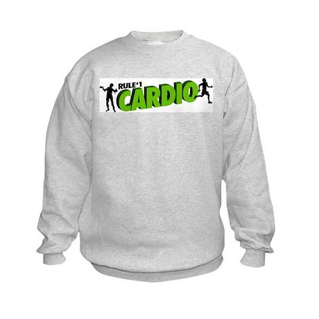 Zombie Rule #1 CARDIO! Kids Sweatshirt