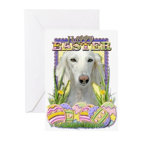 Easter Egg Cookies - Saluki Greeting Cards (Pk of