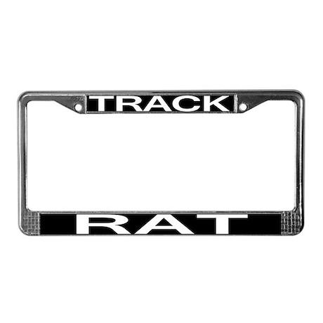 track rat license plate frame by drivingshirts. Black Bedroom Furniture Sets. Home Design Ideas