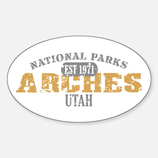 Arches National Park Utah Sticker (Oval)