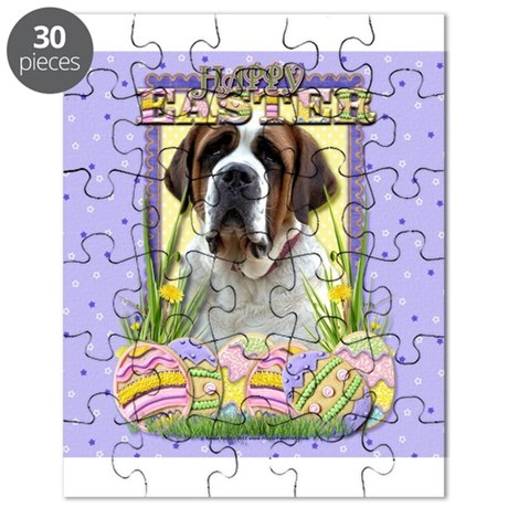 Easter Egg Cookies - St Bernard Puzzle