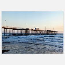 Pier in an ocean, Pismo Beach Pier, Pismo Beach, S