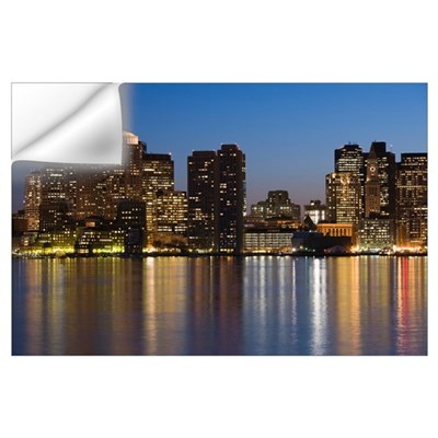 Buildings at the waterfront, Boston, Massachusetts Wall Decal