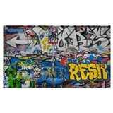 Graffiti Wrapped Canvas Art