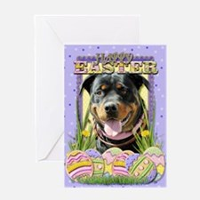 Easter Egg Cookies - Rottie Greeting Card