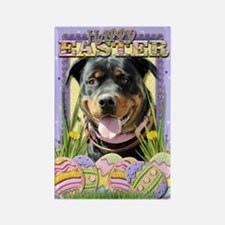 Easter Egg Cookies - Rottie Rectangle Magnet