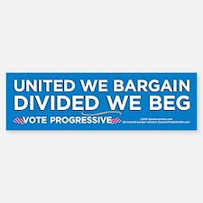 United We Bargain (Bumper Sticker)
