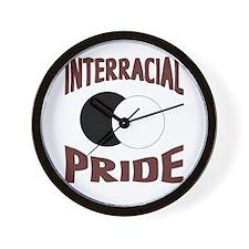 Interracial/Biracial Pride Wall Clock