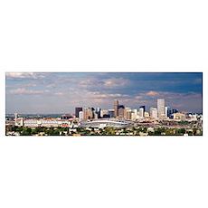 Skyline with Invesco Stadium, Denver, Colorado Poster