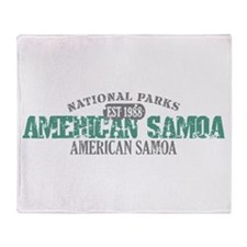 American Samoa National Park Throw Blanket