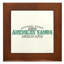 American Samoa National Park Framed Tile